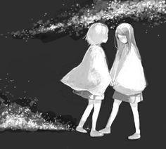 anime girl, art, black and white, monochrome Yuri, Black And White Girl, Tumblr Image, Anime Girl Cute, Anime Girls, Emotion, Favim, Find Image, We Heart It