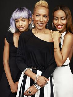 Jada Pinkett Smith with her daughter and her Mom