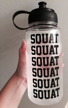 squat and drink your water