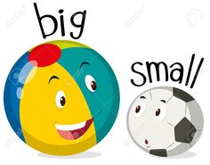 Opposite Words For Big And Small Stock Vector - Illustration . English Activities, Preschool Learning Activities, Preschool Worksheets, Opposites For Kids, Opposites Preschool, English Lessons For Kids, Learn English Words, English Language Learning, Teaching English