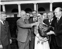 Truman pardoning a turkey