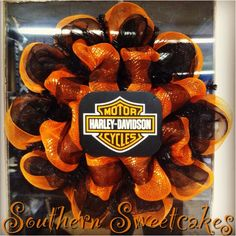 Art Harley Davidson Wreath! wreaths-decor Would love to have on my door!