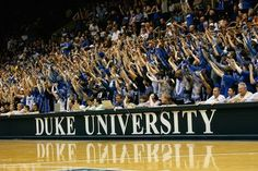 Cameron Crazies - love me some Duke basketball