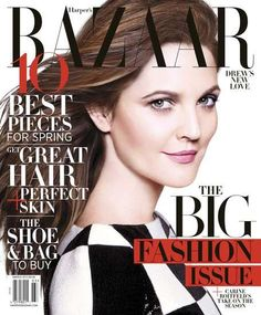 Drew Barrymore Unwinds on the Harper's Bazaar March 2013 Cover #fashion trendhunter.com
