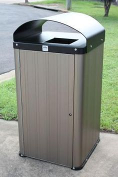 The Atessa Bin equals style to the heavy duty functionality of outdoor rubbish disposal. You no longer have to think of your public/private areas where bins are provided as an eyesore, but as a thing of beauty.