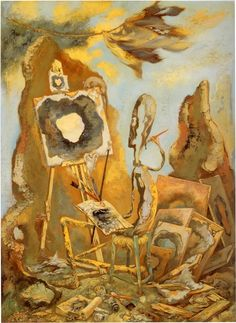 George Grosz - The Painter of the Hole (1948)