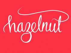 hazelnut - lettering, design, calligraphy, typography