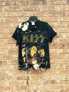 d6be95e6 KISS vintage size medium shirt soft grunge distressed, bleached, rock  concert T shirt bleached