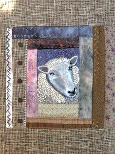 Hand embroidered sheep quilt by Debbie Irving. https://www.pinterest.com/debirving98/picture-quilts-etc/