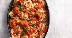 The whole family with enjoy this tuna twist on classic spaghetti and meatballs.