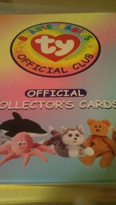dec6204c5fe 2 notebooks with hundreds of Ty Beanie Baby collector cards