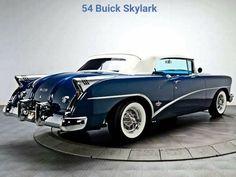 1954 Buick Skylark convertible retro f Retro Cars, Vintage Cars, Antique Cars, Vintage Auto, Convertible, Cadillac, Austin Martin, Automobile, Buick Cars