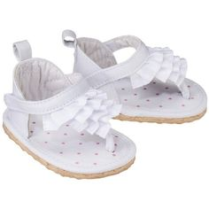 JUST ONE YOU® Made by Carters Newborn Girls' Eyelet Ruffle Sandal - white Newborn from Target. Saved to 4 my soon to be twin girls! Baby Girl Sandals, Girls Sandals, Baby Girl Shoes, Boys Shoes, Carters Baby Girl, Cute Baby Girl, Cute Babies, Baby Girls, Baby Barbie