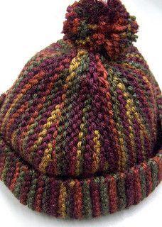 Sideways knit hat free knitting pattern