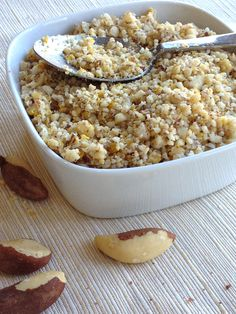 "Brazil Nut ""Parmesan Cheese"" topping: vegan, gluten-free, soy-free, oil-free (meant to replace Parmesan Cheese as a topping)"