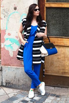 Kleidermaedchen, Fashionblog, Fashionblogger, Modeblog, ray-ban sunglasses, jumpsuit asos, vest mango, tote bag mango, adidas stan smith - Kleidermädchen