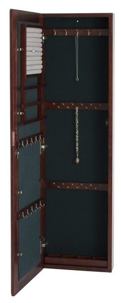 wall mount jewelry armoire mirror 02   Jewelry Storage for Small Spaces: Fits in your Tiny House or Cottage