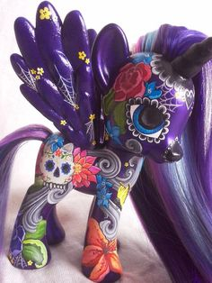 My Little Pony Day of the dead style custom by DLcustomcreations, $180.00