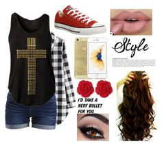 """""""Amusement park with bae"""" by mfrias02 on Polyvore featuring Converse, VILA, Dollydagger and Anja"""
