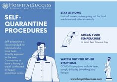 Self-quarantine is recommended for indviduals who have been directly exposed to the new Coronavirus or have a history of travel in infected or heavily populated areas. #covid19 #coronaviruspandemic #covid19pandemic #coronavirus2020 #selfquarantine #homequarantine #coronavirusawareness Safety Tips, Clinic, Medicine, Self, At Least, Day, Success, History, Travel