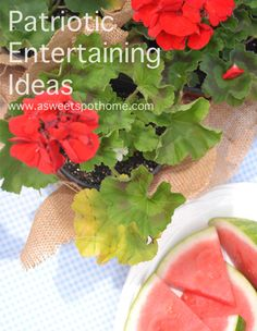 Entertaining: Patriotic Party Ideas.  #entertaining #summer #cookout #barbeque #parties #partydecor #decorations #redwhiteblue #America