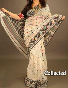 Jamdani saree Dhakai Jamdani Saree, Ethnic Chic, Design Model, Blouse Designs, Sarees, Kimono Top, Models, Tops, Women