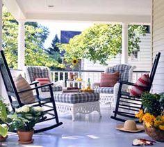 ... fun cottage porch.