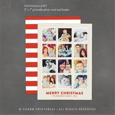 Instagram Christmas Card by BrittanyGarnerDesign #2013 | christmas ...
