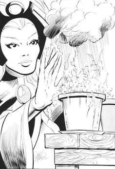 Storm with plants by John Byrne
