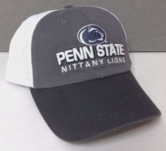 04c34b32 NEW top-of-the-world PENN STATE NITTANY LIONS HAT Relaxed-Fit Trucker  Gray/White | eBay