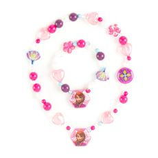 Disney Frozen Anna Beaded Necklace and Bracelet Set