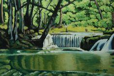 Pinoy, Trail, Scenery, Deviantart, Landscape, Canvas, Nature, Painting, Tela