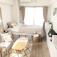 いいね!2,795件、コメント4件 ― インテリアと暮らしのSNS | RoomClipさん(@roomclipjp)のInstagramアカウント: 「『1Kの部屋』限られた広さの中に様々な工夫がみられる一人暮らし。あえて狭い部屋に最小限のもので暮らす人が増えています。 1万枚以上の1Kの部屋実例を参考にしてみてください .…」