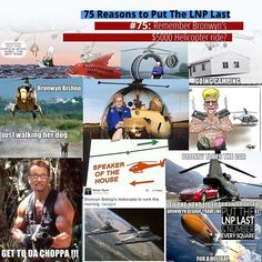 """Reason to Put The LNP Last number 75: Bronwyn Bishop and Choppergate. Although it did nearly destroy the internet with an explosion of """"dank memes"""" #lnplast"""