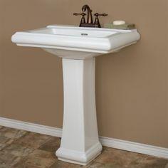 Cierra Pedestal Sink Powder Room inspiration Pinterest Pedestal ...