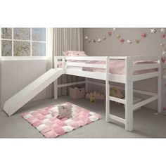 Small in scale, the Woodcrest Pine Ridge Mini Loft with Ladder is big on adventure when it comes to weekend lounging, afternoon homework,. Mini Loft, Bed For Girls Room, Cool Kids Bedrooms, Big Girl Rooms, Low Loft Beds, Toddler Loft Beds, Dressing Room Design, Stylish Bedroom, Bedroom Decor