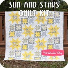 Sun and Stars Quilt Kit Featuring Gray Matters by Jacqueline Savage McFee