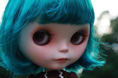 blythe doll with teal hair
