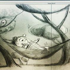 Here's wishing I was cuddled up all cosy in a hammock. Happy Thursday  lovely friends xx #hammock #slumber #cuddles #love #cosy #autumn #hibernation #kidlit #art #illustration #kidlitart #wacom #digitalillustration