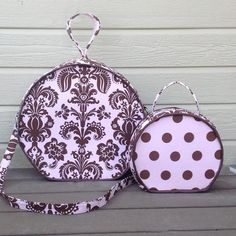 Two Round Patterned Travel Bags