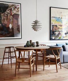 Best of Nordic Design's Most Beautiful Dining Rooms Scandinavian Interior Design, Scandinavian Home, Home Interior Design, Nordic Design, Scandinavian Dining Table, Mid Century Interior Design, Scandinavian Lighting, Scandinavian Apartment, Nordic Home