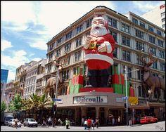 Santa at Whitcoulls... Auckland NZ