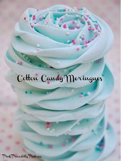 Cotton Candy Meringues - my mom used to make these meringue cookies all the time, now to see if I can do it