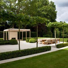 Landform Consultants - Wentworth Manicured and flat. Modern Garden Design, Contemporary Garden, Garden Landscape Design, Modern Landscaping, Outdoor Landscaping, Backyard Patio, Formal Gardens, Outdoor Gardens, Pergola