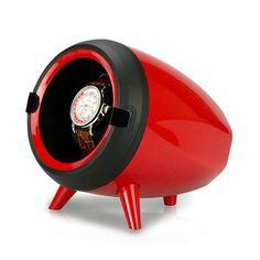 Περιστρεφόμενος μύλος ηχείο για κούρδισμα αυτόματων ωρολογίων.Ηλεκτρικό κουρδιστήρι για αυτόματα ρολόγια. Μία χρήσιμη θήκη κουρδίσματος κόκκινη, gadget για όσους διαθέτουν αυτόματο ρολόι, που βοηθάει τόσο στη διατήρηση της σωστής ώρας του ρολογιού σας όσο και στην καθημερινή φύλαξή του | ΤΣΑΛΔΑΡΗΣ στο Χαλάνδρι #gadget #κουρδιστήρι #θηκη #αυτόματο #ρολόι Piggy Bank, Watches, Red, Design, Money Box, Wristwatches, Money Bank, Clocks