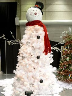 Buy a white tree when they go on sale and do this next year on front porch...