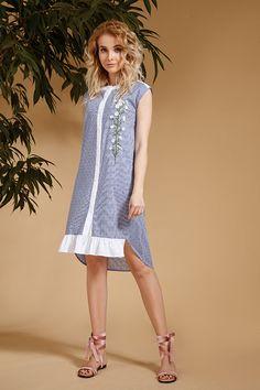 Платье Prestige 3332 голубой купить с доставкой по России | Интернет-магазин BelaRosso-shop.ru