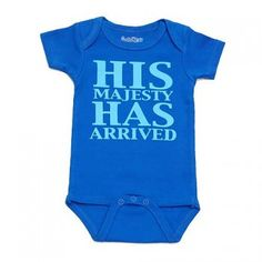 An adorable bodysuit, perfect for a baby shower gift, from Sara Kety.  This cotton bodysuit features a funny graphic print on front. Snap crotch for easy changes.