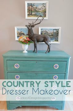 CeCe Caldwell Destin Golf Green Chalk Paint Dresser Makeover - Cuckoo4Design