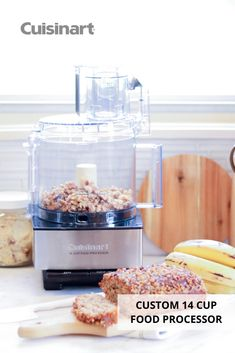 Whether you're using our Custom 14 Cup Food Processor to knead your dough or finely chop nuts for a recipe, it will be a helpful kitchen appliance during #NationalBakingMonth! The large capacity work bowl and powerful motor allow for seamless food prep. #winterbaking #bakingideas #bakingtools #foodprocessor #cuisinart #savorthegoodlife #bananabreadrecipe Food Prep, Meal Prep, Baking Tools, Banana Bread Recipes, Food Processor Recipes, Prepping, Easy Meals, Kitchen Appliances, Lunch